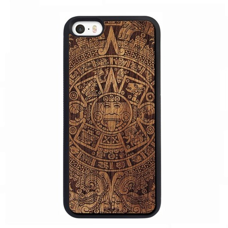 SMARTWOODS PHONE CASE AZTEC CALENDAR DARK ACTIVE iPhone SE/5/5s