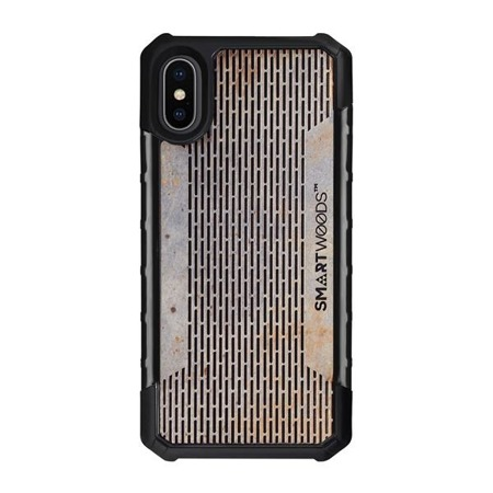 SMARTWOODS PHONE CASE SOLID ARMOR PASS STRUCTURE iPhone X/Xs CONCRETE