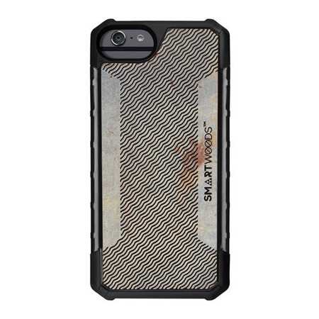 SMARTWOODS PHONE CASE SOLID ARMOR WAVY LAYOUT iPhone 6/6s/7/8 CONCRETE