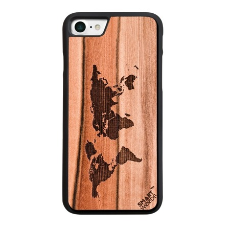 SMARTWOODS PHONE CASE WORLD MAP ACTIVE iPhone 7/8