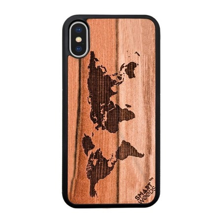 SMARTWOODS PHONE CASE WORLD MAP ACTIVE iPhone X/Xs