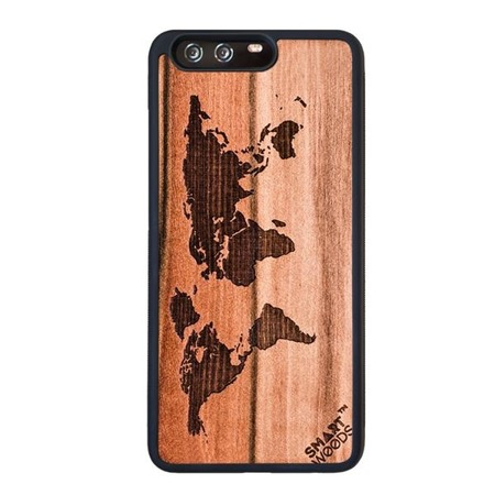 SMARTWOODS PHONE CASE WORLD MAP HUAWEI P10 PLUS