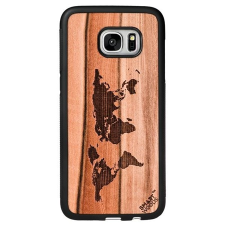 SMARTWOODS PHONE CASE WORLD MAP SAMSUNG GALAXY S7 EDGE