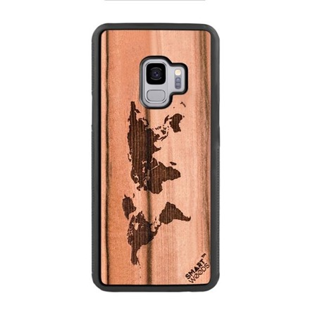 SMARTWOODS PHONE CASE WORLD MAP SAMSUNG GALAXY S9