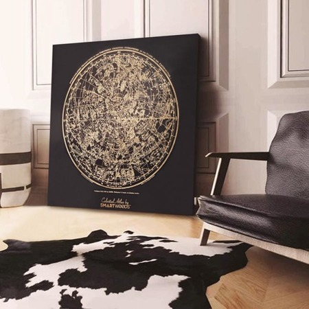 SMARTWOODS WALL DECORATION CELESTIAL ATLAS - DIMENSIONS 60cm X 60cm