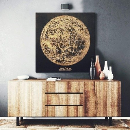 SMARTWOODS WALL DECORATION LUNAR MAP